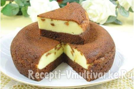 Печем в мультиварке бархатный шоколадно-творожный пирог