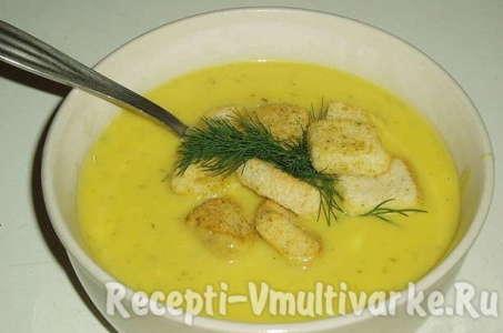Рецепт сливочного крем-супа из молодых кабачков в мультиварке