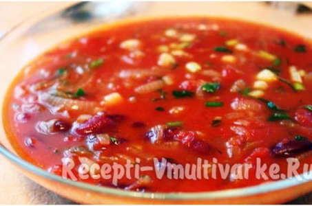 Вкусный томатный суп-пюре в мультиварке