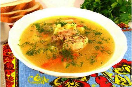 Аппетитный суп с куриным мясом и рисом в мультиварке