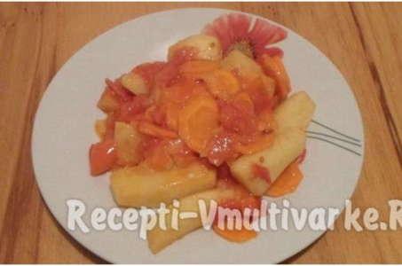 Как вкусно приготовить тушеную картошку с помидорами в мультиварке