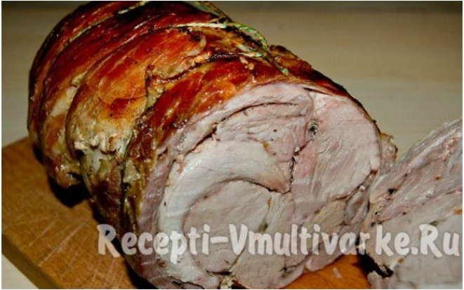 Простой рецепт приготовления в мультиварке аппетитного мясного рулета
