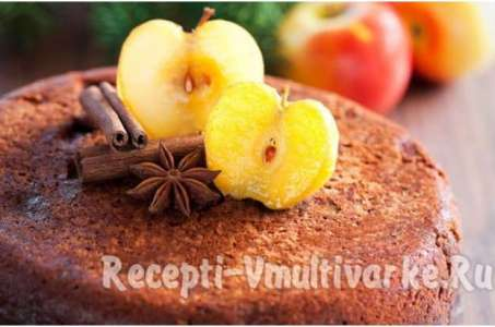 Рецепт постной шарлотки с яблоками в мультиварке