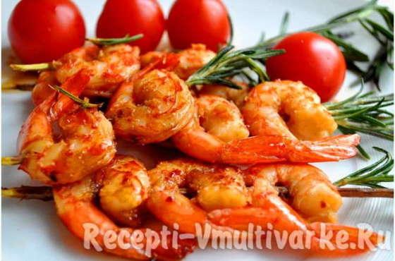 Аппетитные креветки вареные и жареные в мультиварке