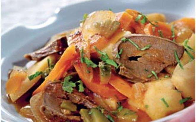 Вкусный способ приготовления свиного сердца с овощами в мультиварке