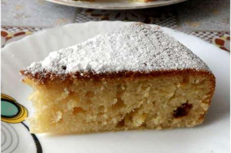 Очень простой рецепт лимонного кекса с изюмом в мультиварке