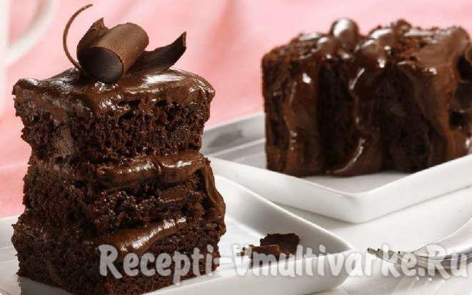 Шоколадный брауни по классическому рецепту в мультиварке