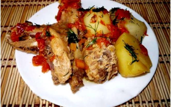 Рецепт приготовления кролика с картофелем на гарнир в мультиварке