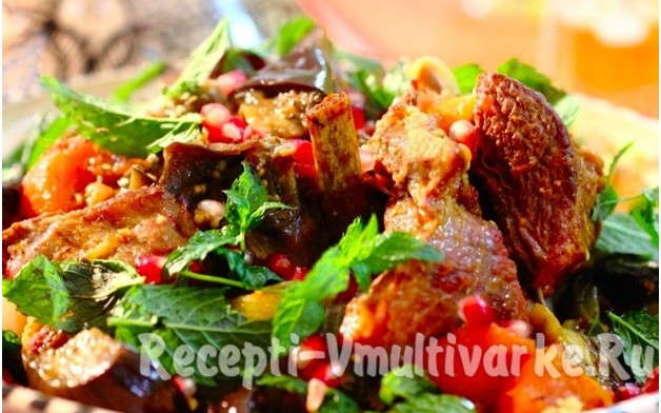 Неимоверно вкусные бараньи ребрышки с овощами в мультиварке
