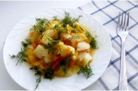 Рецепт вкусного овощного рагу с кабачками в мультиварке Поларис