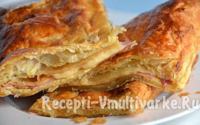 Рецепты аппетитных пирогов из слоеного теста в мультиварке