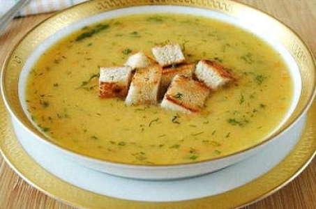 Густой гороховый суп пюре с копченым мясом в мультиварке