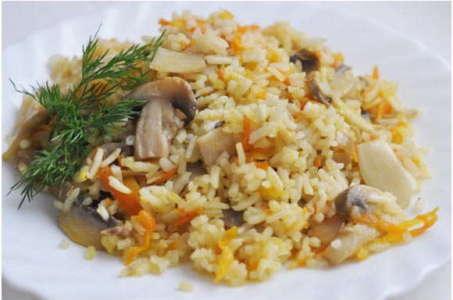 Вкусный рецепт плова с грибами в мультиварке