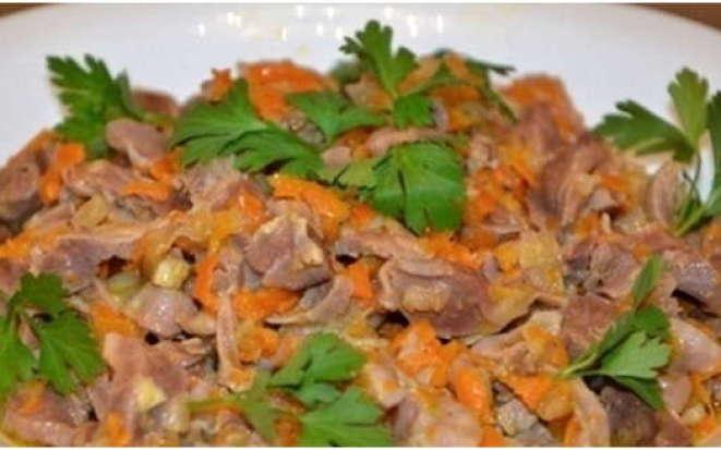 Простой рецепт приготовления куриных желудков в мультиварке Редмонд