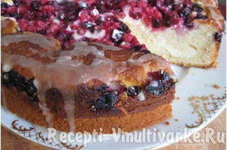 Вкусный брусничный пирог в мультиварке