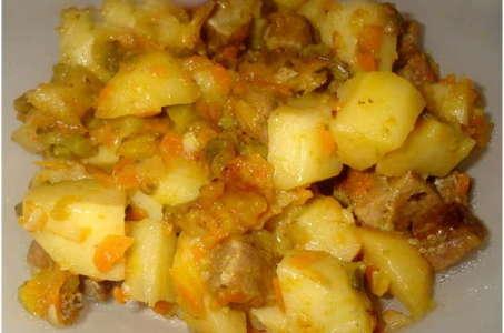 Рецепт нежного домашнего жаркого в мультиварке Поларис