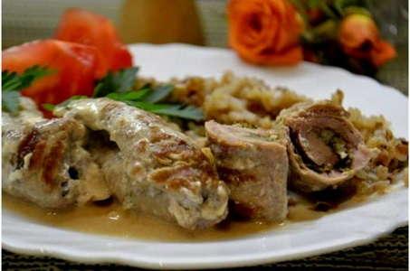 Рецепт роскошной свиной вырезки в сливочном соусе в мультиварке