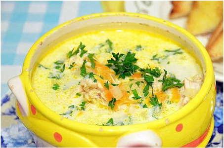 Рецепт приготовления аппетитного сырного супа в мультиварке Редмонд