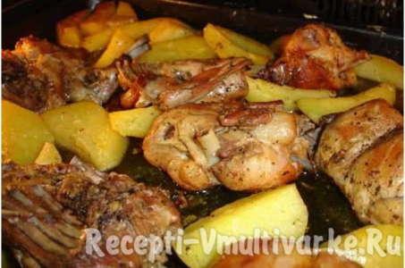 Оригинальный рецептприготовления зайца с картофелем в мультиварке