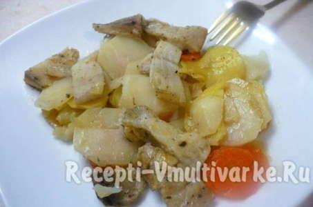 Рецепт аппетитного пангасиуса с овощами в мультиварке