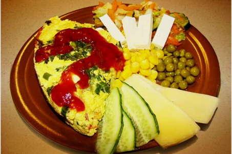 Рецепт сочного омлета в мультиварке Панасоник с мясом и овощами