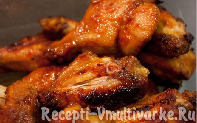 Рецепт пряной курицы по-китайски под соево-медовым соусом в мультиварке