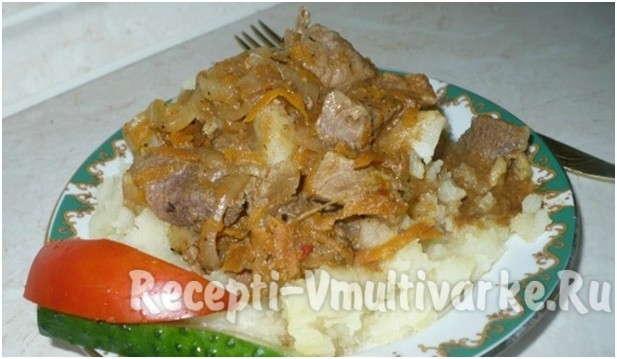 интересное блюдо с мясом и овощами