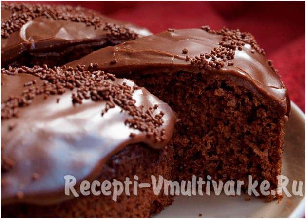 сочный шоколадный пирог