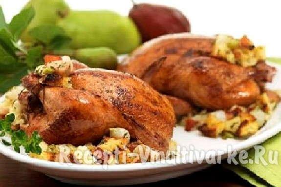 птица с овощами и рисом