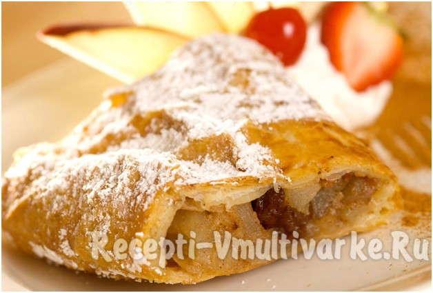 аппетитный яблочный пирожок