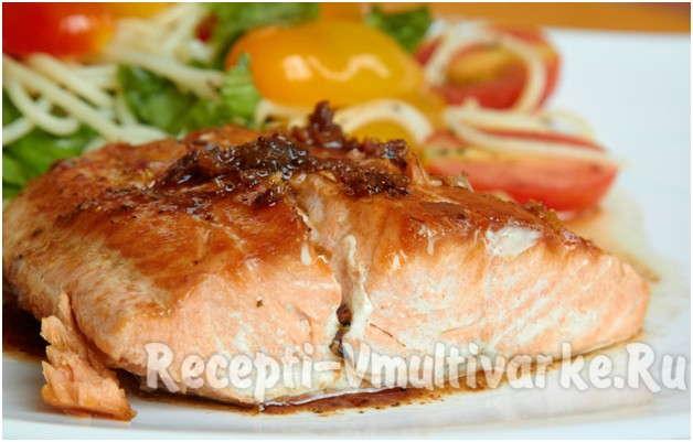 аппетитная рыбка с овощами