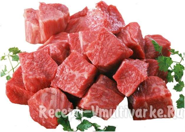 аппетитные кусочки сочного мяса