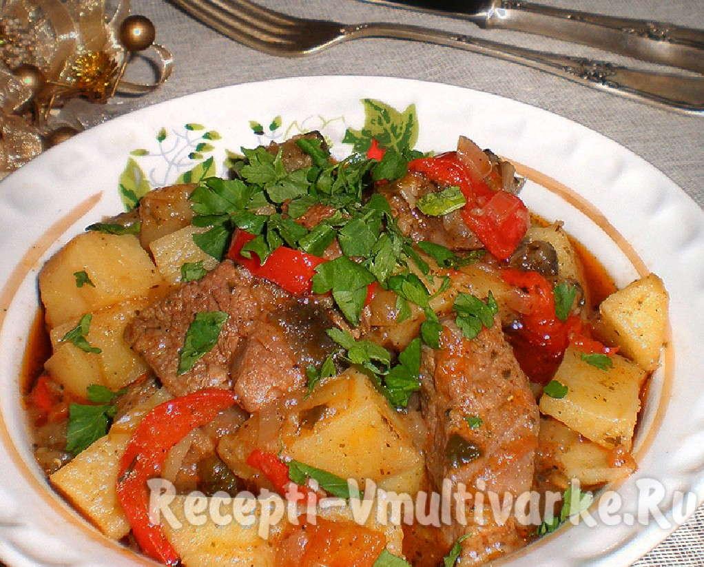 замечательное блюдо с картошкой и мясом