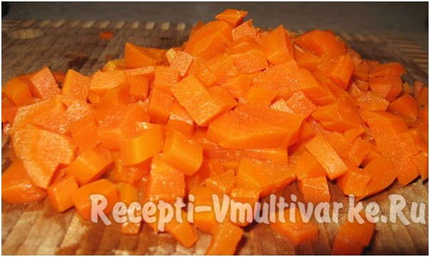 нарезать мелко морковь