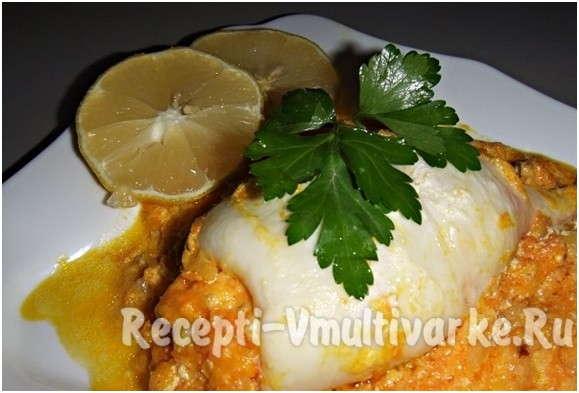 вкусное блюдо из морепродуктов