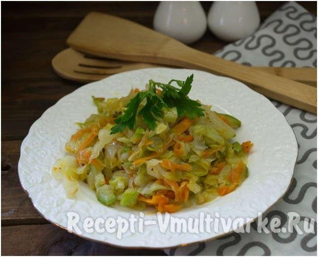 аппетитное овощное блюдо
