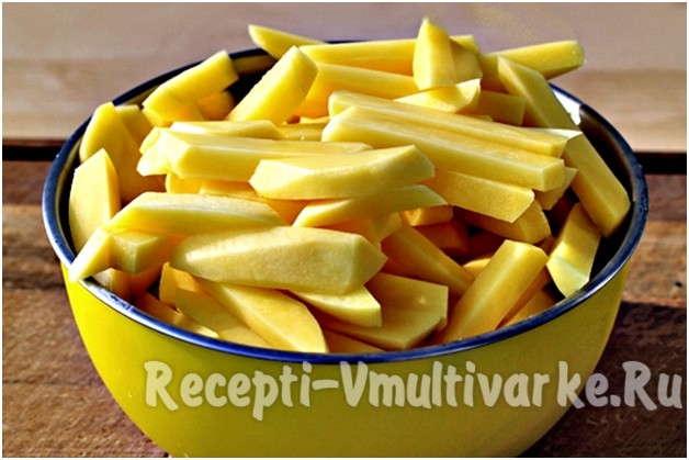 мелко нарезать картофель