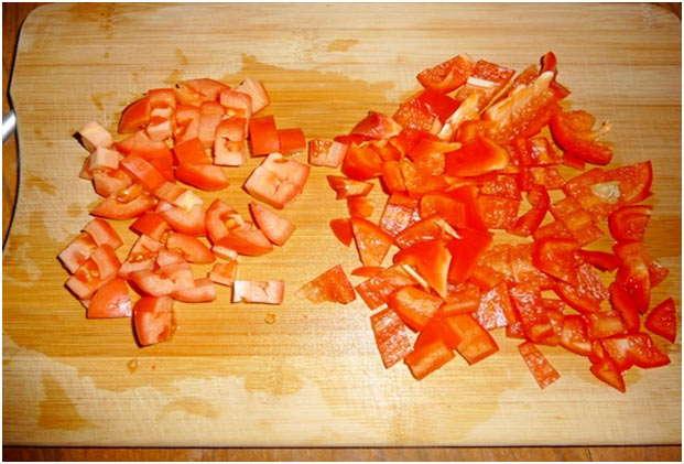 порезать сладкий перец
