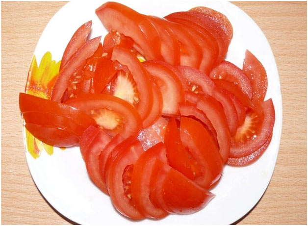 Как сделать резанные помидоры 668