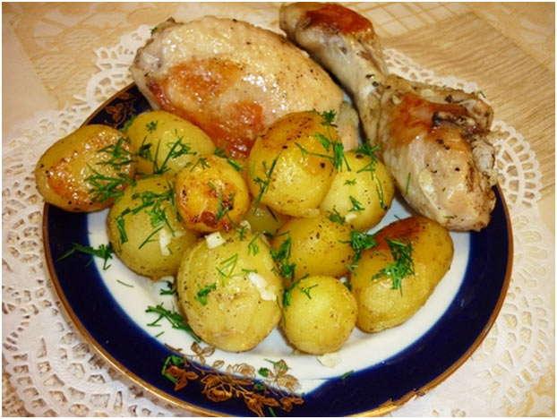 Что приготовить быстро из курицы и картофеля