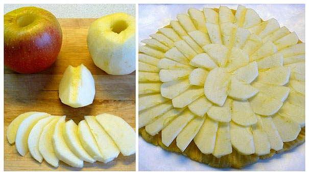 тонко нарезать яблоки