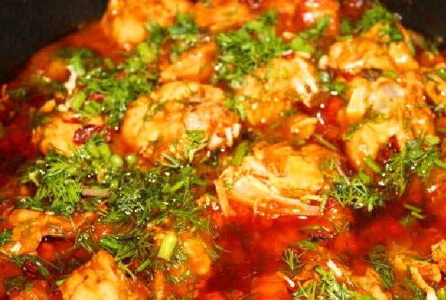 Чахохбили из курицы фото классический рецепт