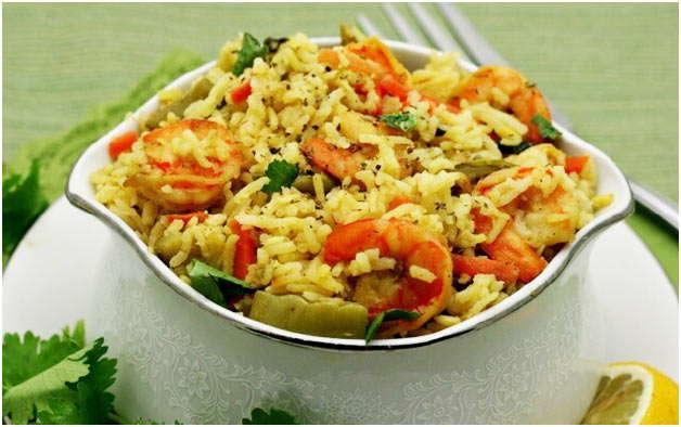 аппетитное блюдо с морскими гадами