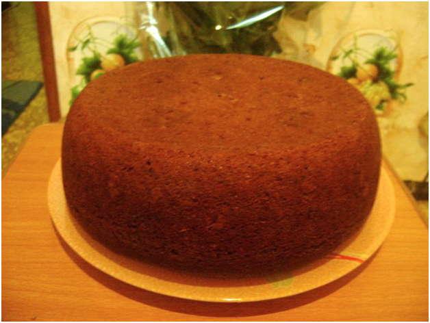Шоколадный бисквит на кипятке в мультиварке рецепт с фото