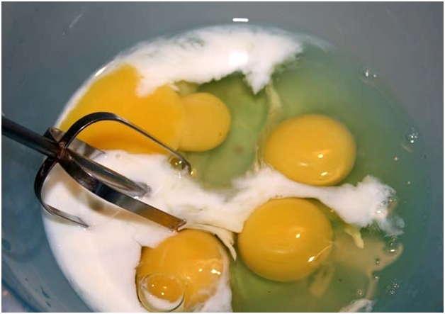 молоко с яйцами