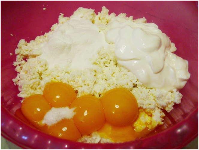 творог с яйцами
