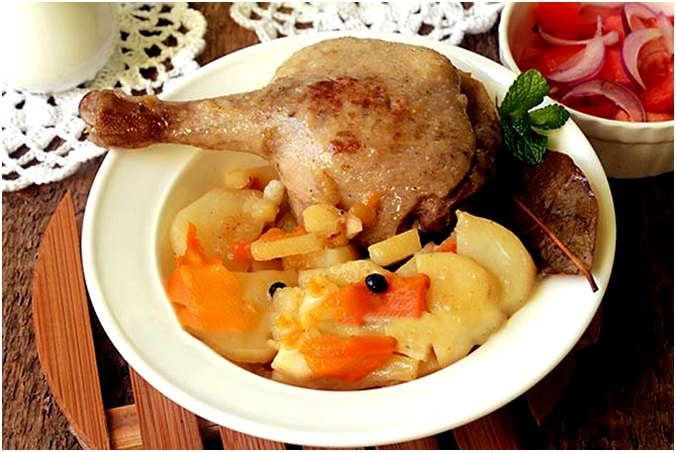 Утка с картошкой в мультиварке рецепт с фото вкусно