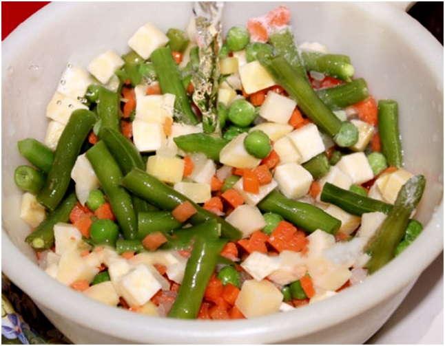 промыть овощи