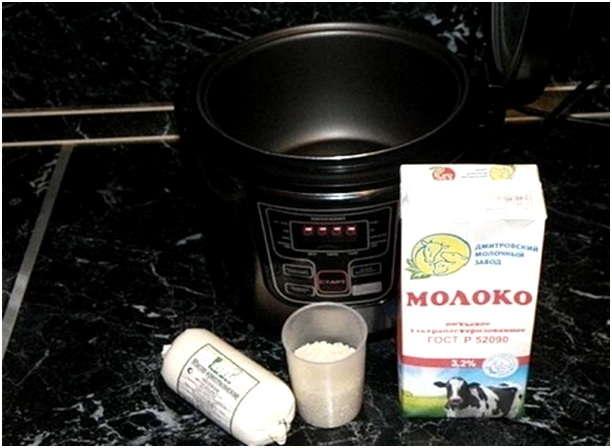 Молочная каша в мультиварке редмонд рецепты с пошагово