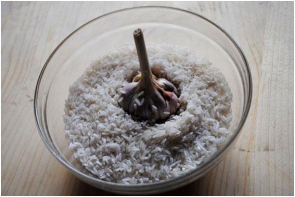 залить рис